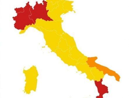 Zone gialle rosse arancioni per sport